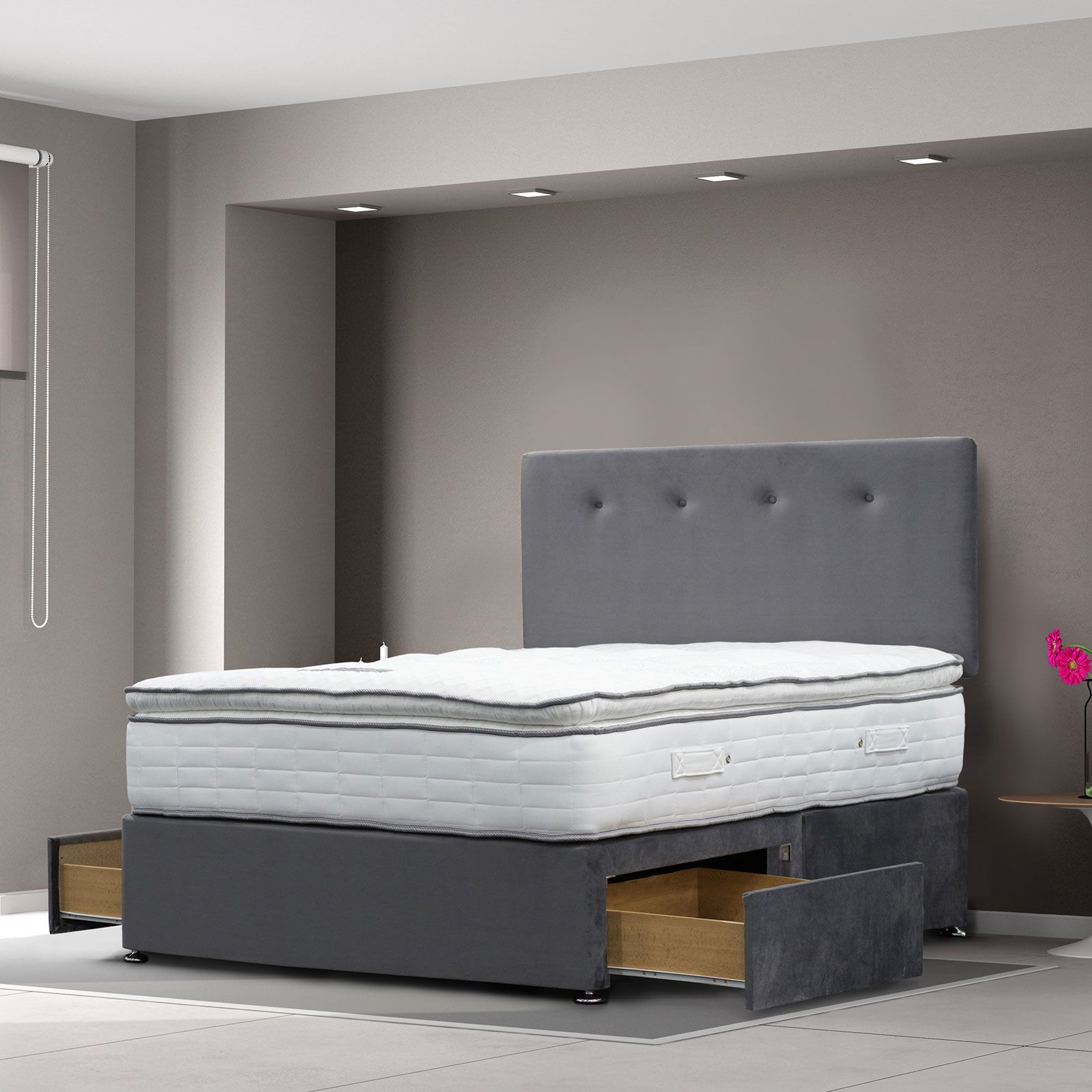 Cagliari divan with 1000 pocket mattress