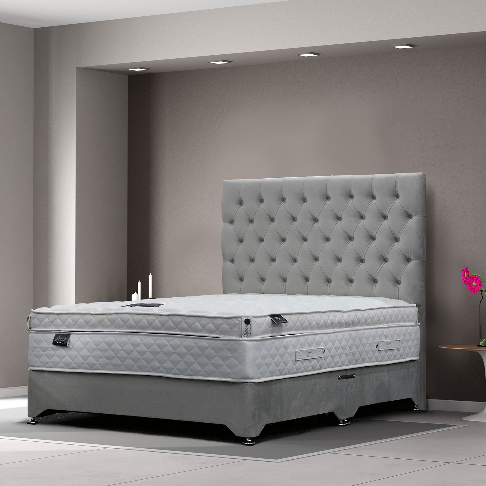 Boston Divan With 1500 Pocket Mattress Wilsons Carpets
