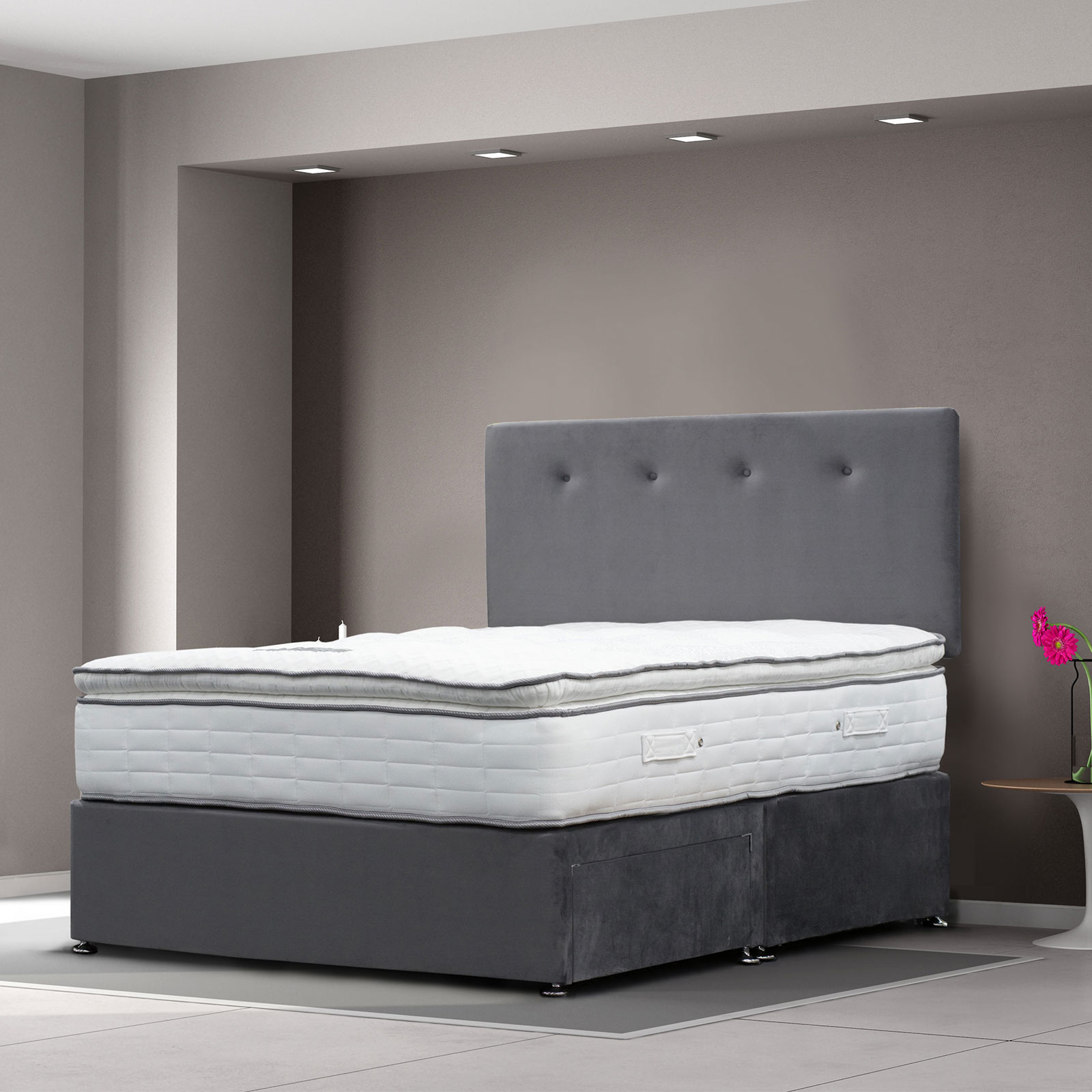 Cagliari Divan With 1000 Pocket Mattress Inc Headboard