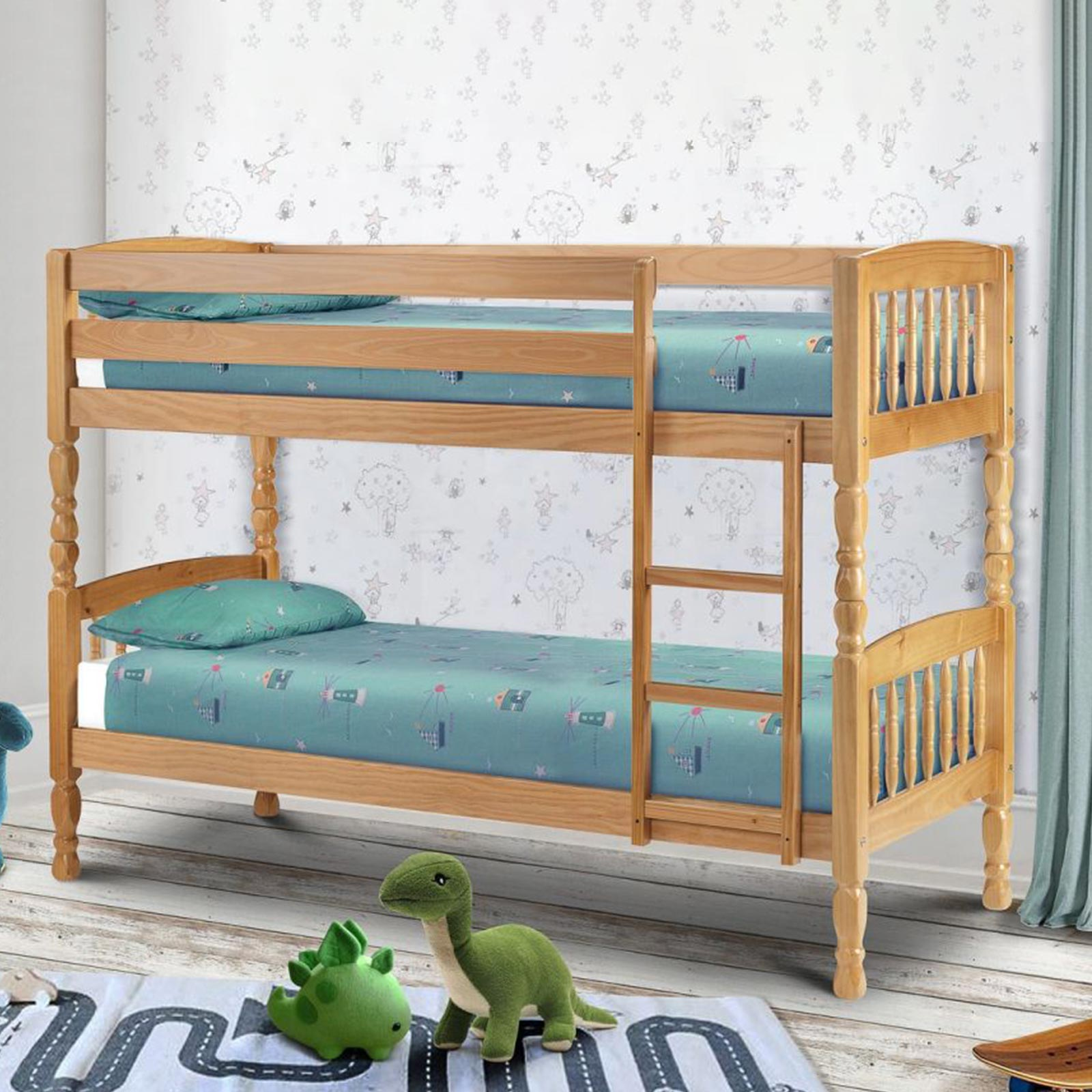Lincoln bunk beds with 2 mattresses lifestyle