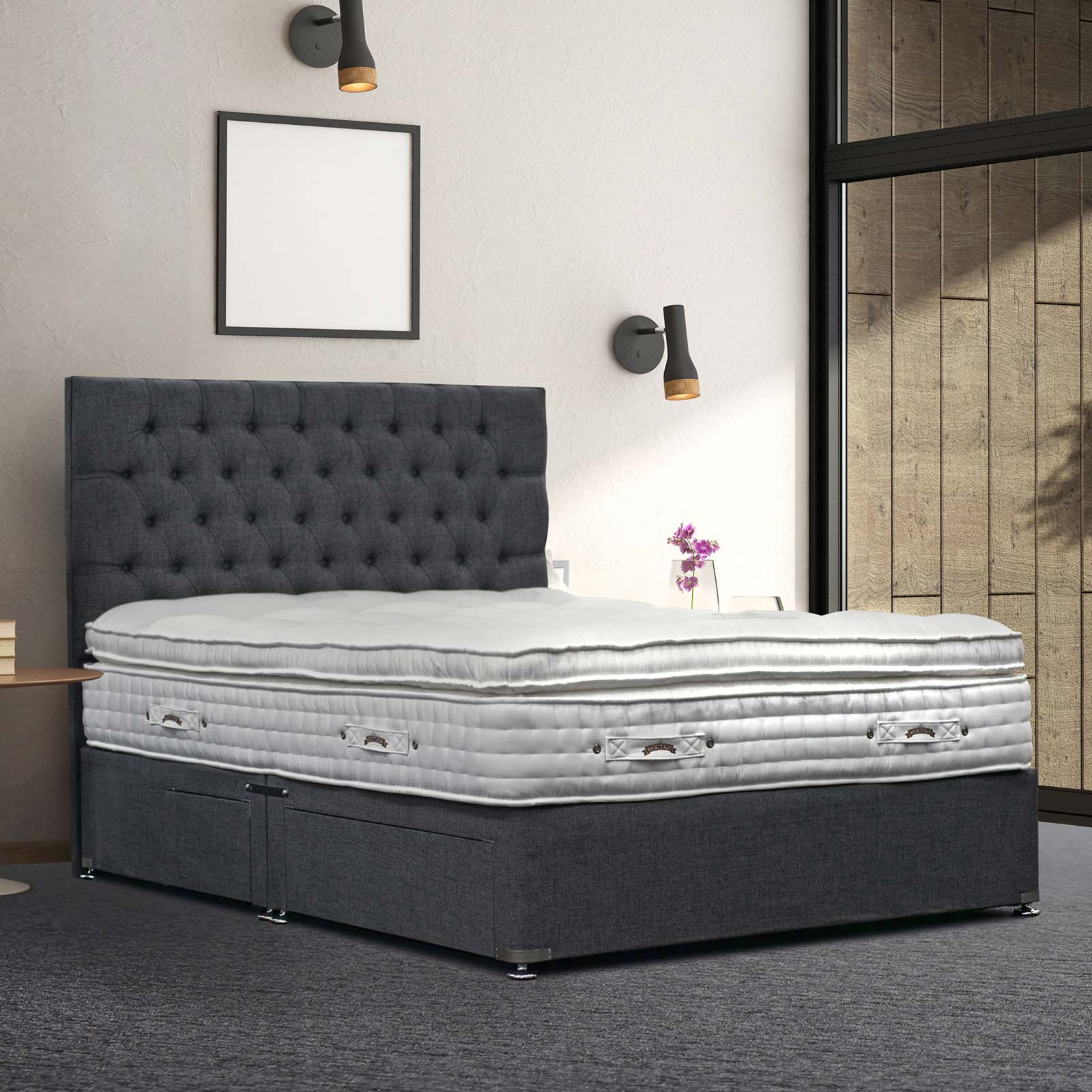 Natural Gold 3500 Divan With 3500 Pocket Mattress